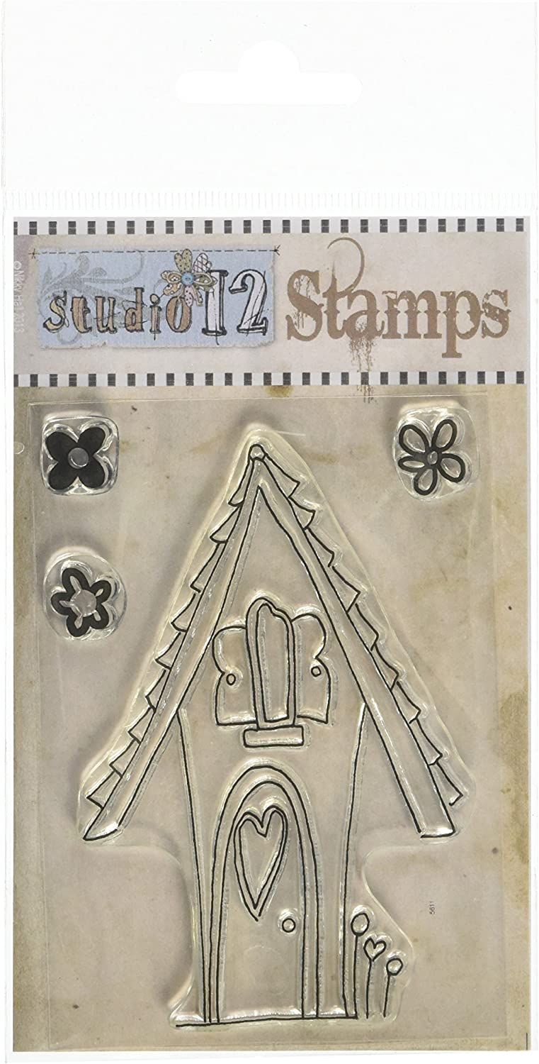 Polkadoodles A7 Studio Heartwarming House Clear Polymer Stamp Set of 12