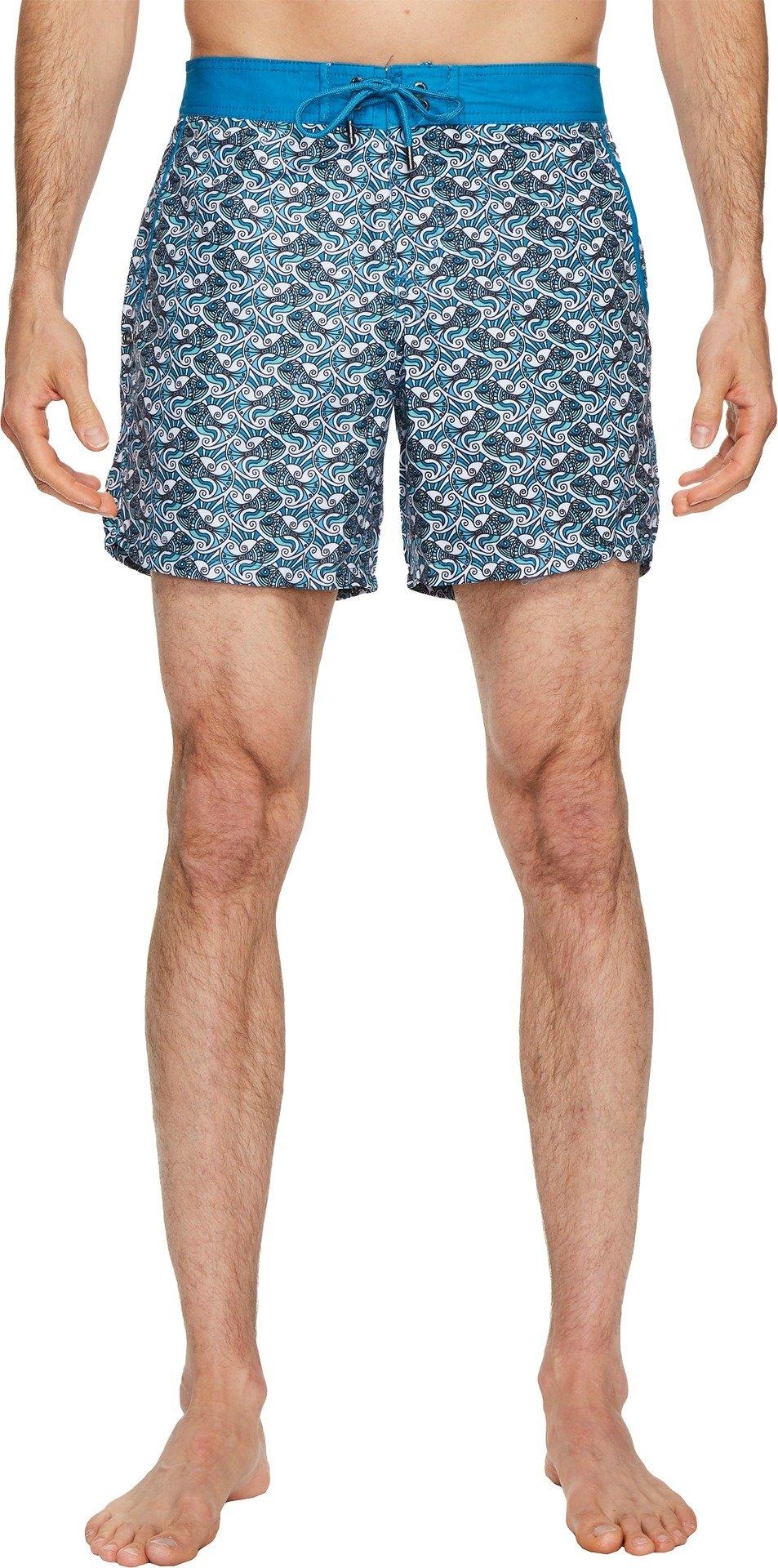 Mr. Swim Men's Swim Trunk, Teal, 30
