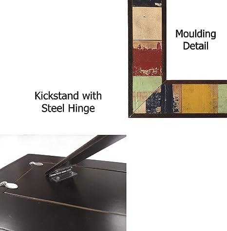 Amazon.com: Lienzo hecho a mano en México, marco de madera ...
