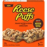 Reese Puffs Treats Peanut Butter & Cocoa Cereal Bars 120g/ 4.2oz Box Imported from Canada