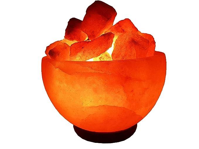 Lampade Cristallo Di Sale : Amethya lampada di sale dellhimalaya pietra naturale di cristallo