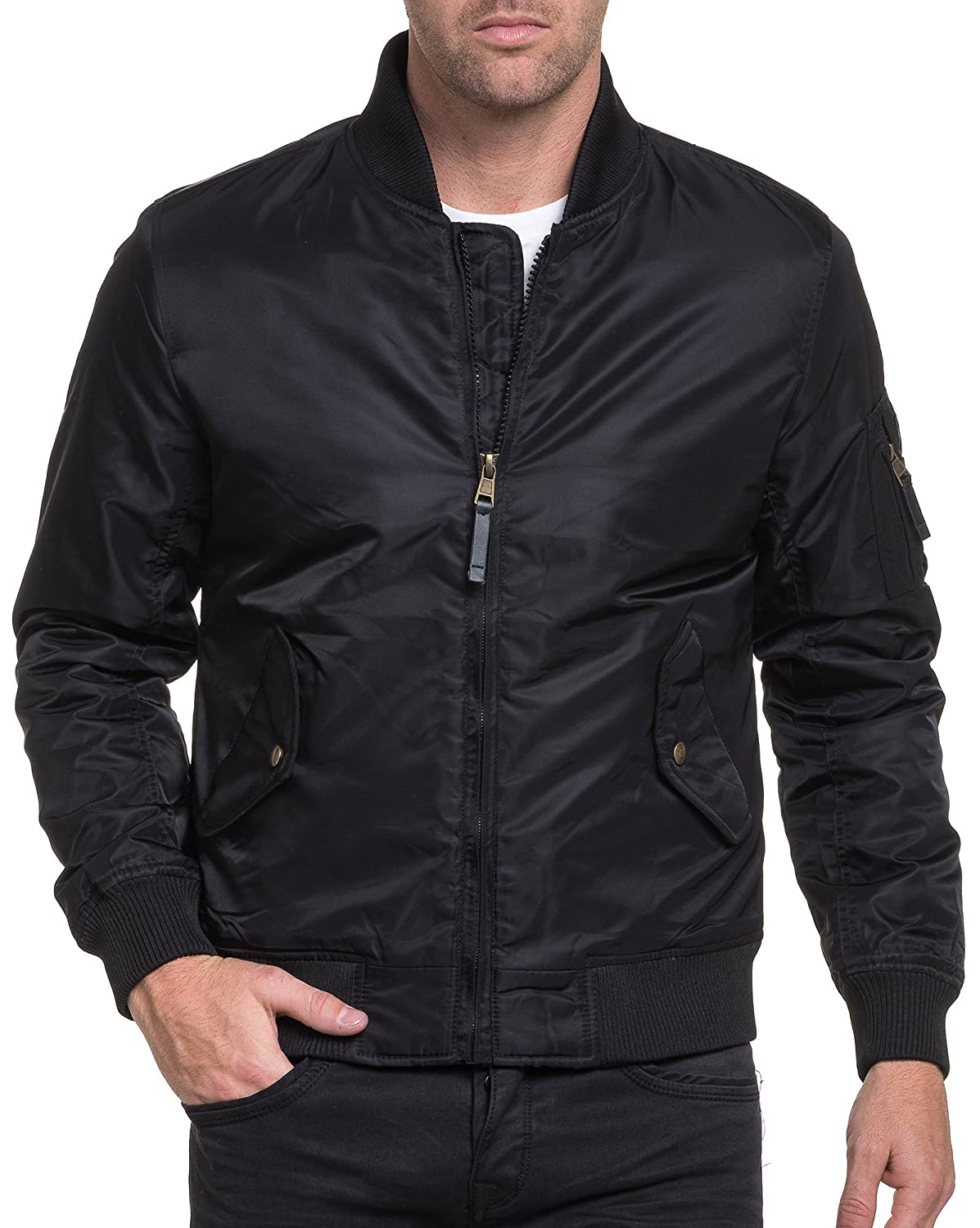 BLZ jeans - Bomber thick black street Men flap pockets