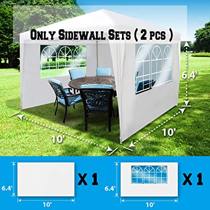 BenefitUSA Sidewalls 10'X6.4' SIZE FOR Tent Outdoor Pop Up