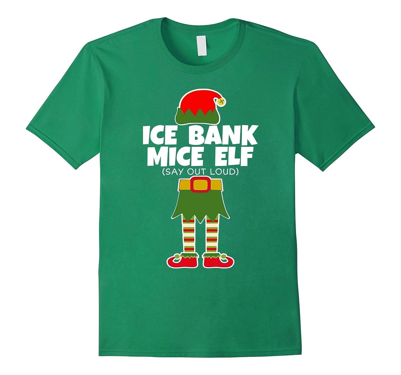 287860e8b74 Ice Bank Mice Elf – Funny Christmas T Shirt Holiday Fun Tee-ANZ