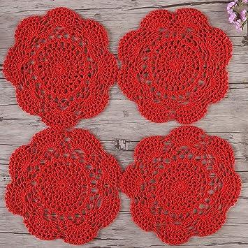 Zorjar Coton Crochet Fait Main Napperons Sets De Table 19 8 Cm Lot