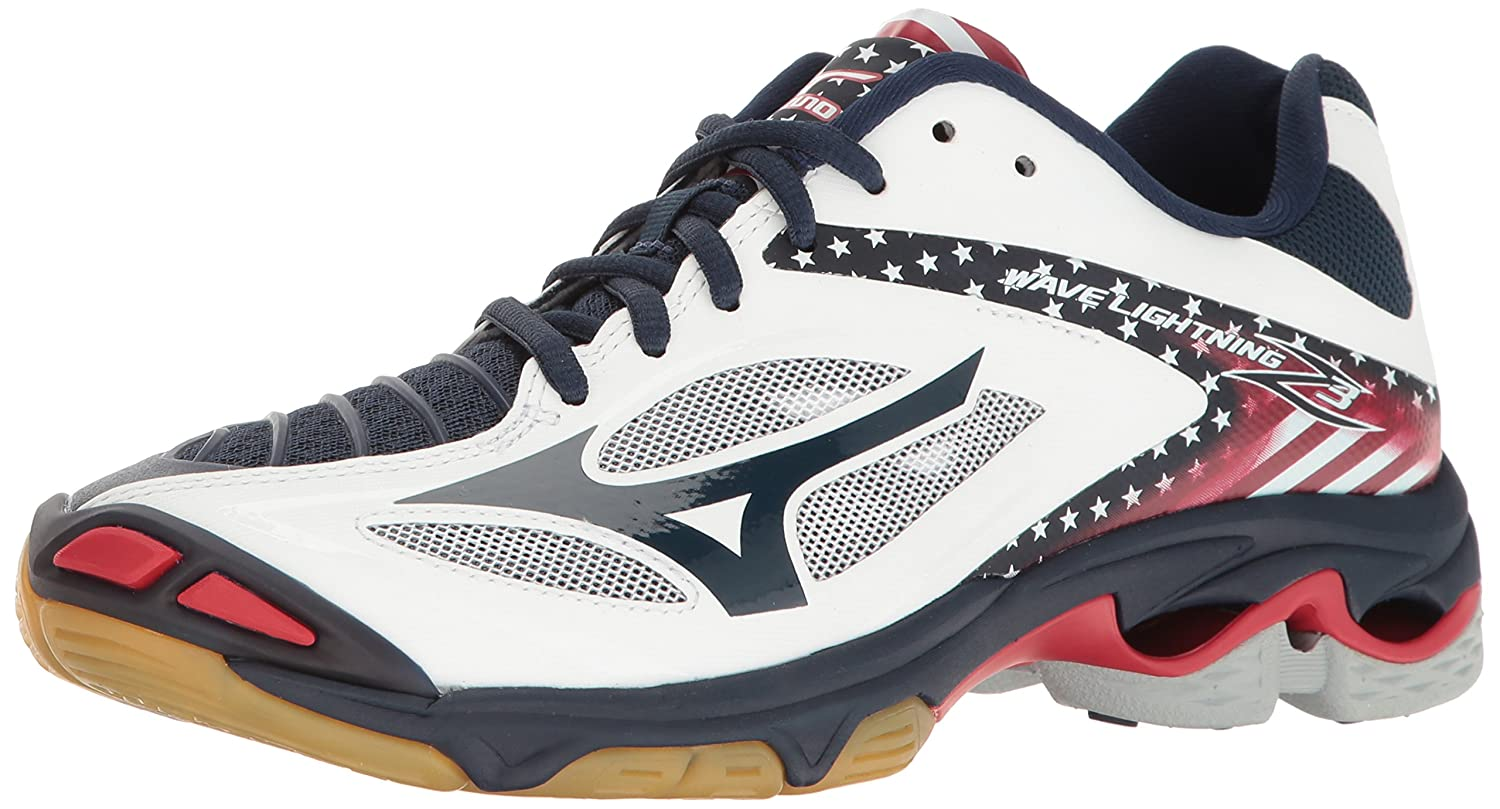 Mizuno Women's Wave Lightning Z3 Volleyball Shoe B01LRC3P6A 10 B(M) US|Stars/Stripes