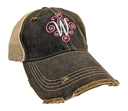 Loaded Lids Women's, Customized, Monogram Embroidered Baseball Cap, Custom  Monogrammed (Black)