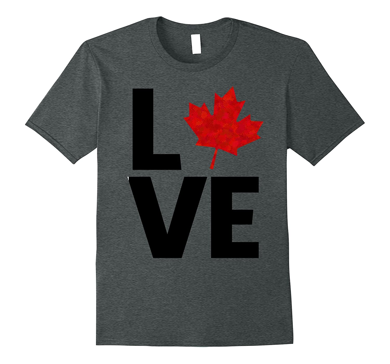 Awesome CANADA LOVE t-shirt (canadians flag day gift tee)-TH