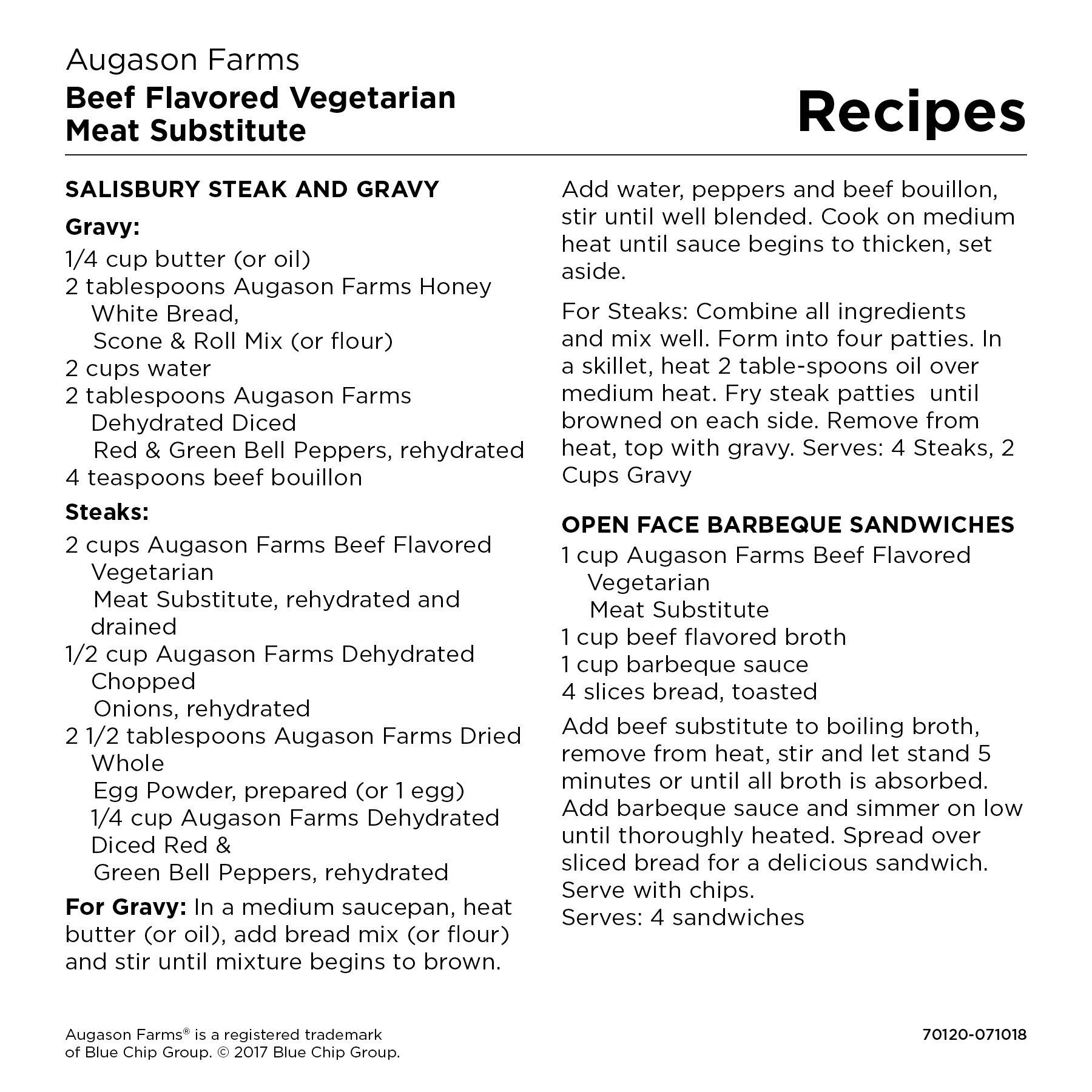 Augason Farms Beef Flavored Vegetarian Meat Substitute 2 lbs 5 oz No. 10 Can by Augason Farms (Image #4)