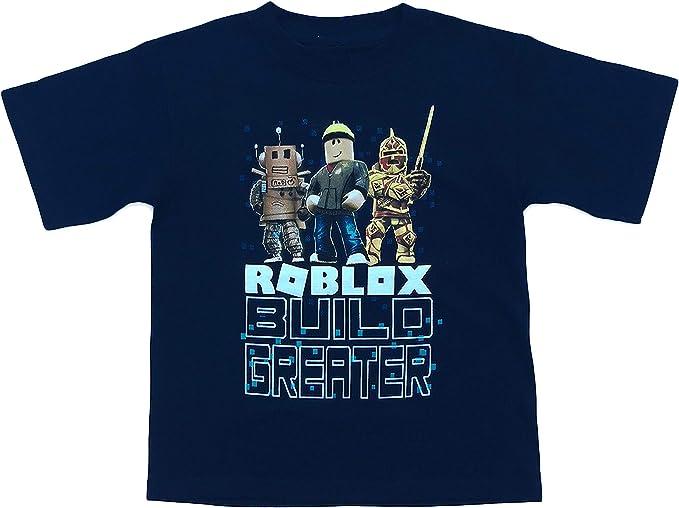 Amazon Com Roblox Build Greater Big And Little Boys Camiseta