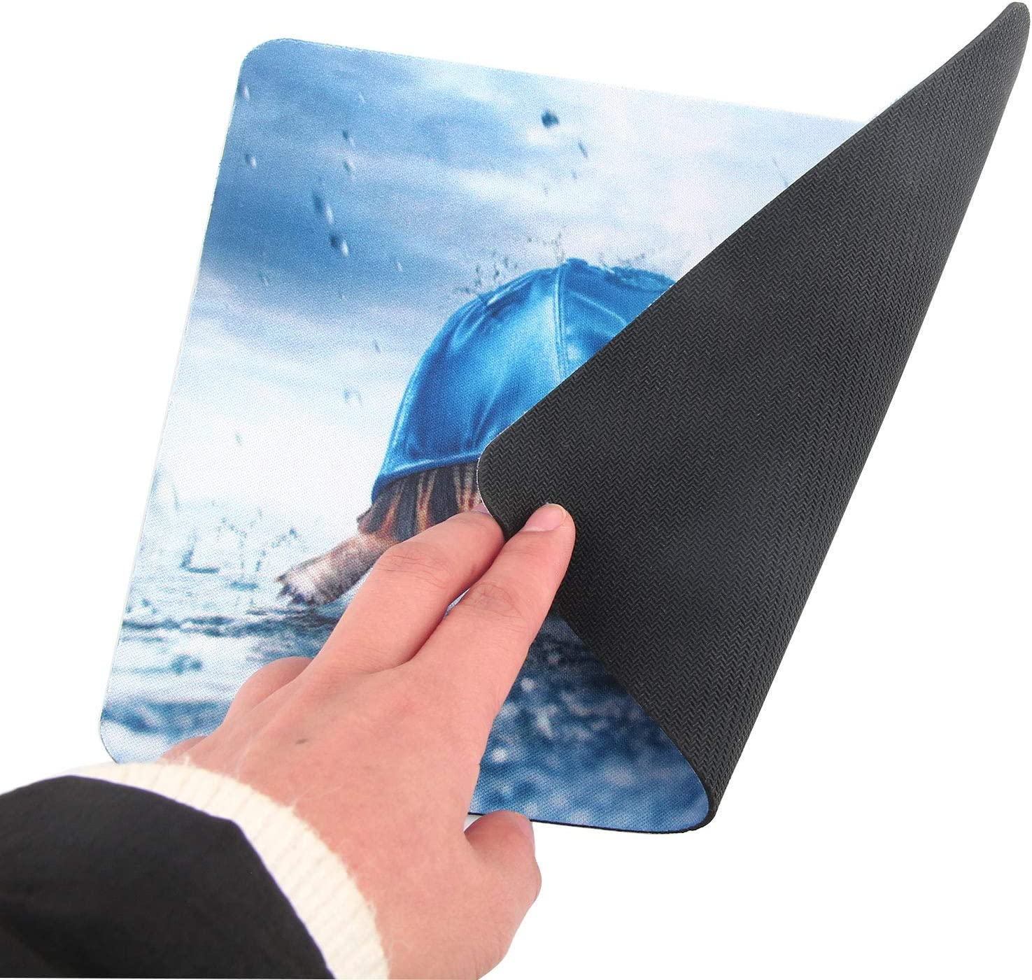 Non-Slip Rubber Base Mousepad for Laptop Computer PC Personality Desings Gaming Mouse Pad Mat 9.45 X 7.87 inch Blue Galaxy, 9.45 X 7.87 inch
