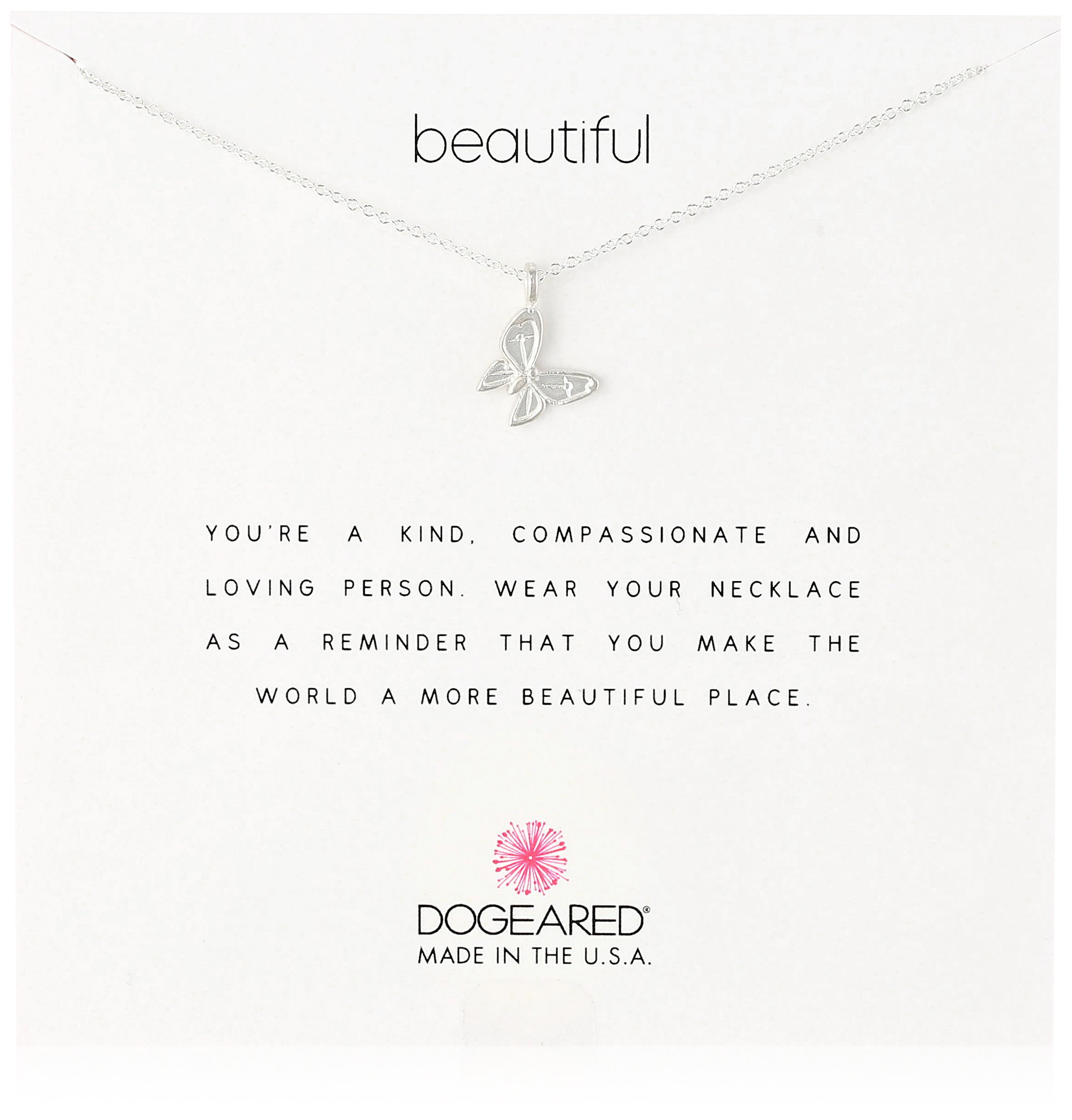 Dogeared Reminders- Beautiful Sterling Silver Butterfly Charm Necklace, 16''+2'' Extender by Dogeared (Image #1)