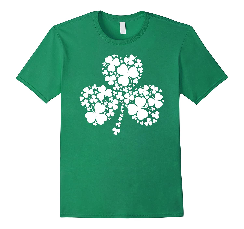 St Patricks Day Shamrocks Green T-shirt-FL