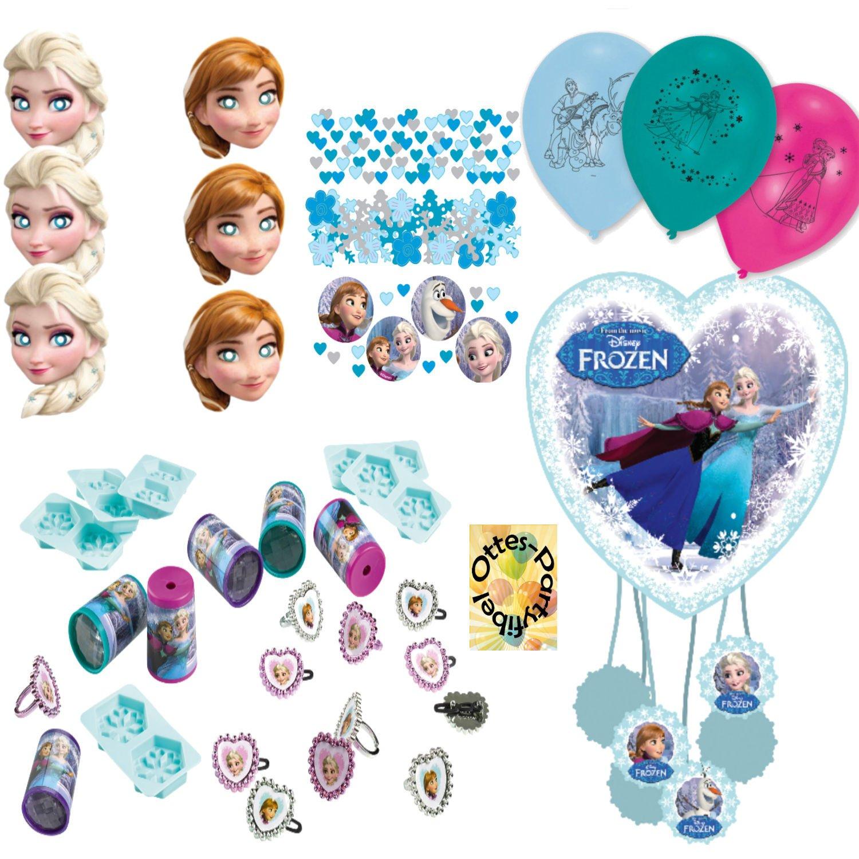 HHO HHO HHO Frozen Ice Die Eiskönigin Anna & ELSA Pinata Mitgebsel Masken Konfetti Luftballons für 6 Kinder 76cf53