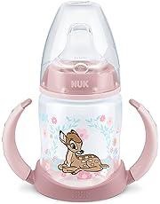 NUK 10215246 Disney Classics First Choice Trinklernflasche Bambi 150 ml, auslaufsicher, 6-18 Monate, 1 Stück, rosa