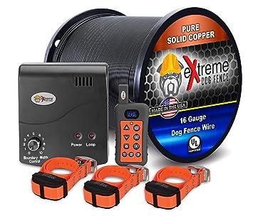 Amazon.com: Valla eléctrica para perro + entrenador remoto ...