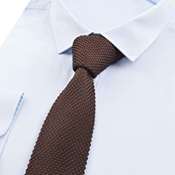Alizeal Estructura–Corbata Ancha de Punto para Hombre Marrón ...