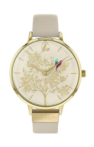 Sara Miller Chelsea Collection SA2006 - Reloj con Correa de Piel chapada en Oro: Amazon.es: Relojes