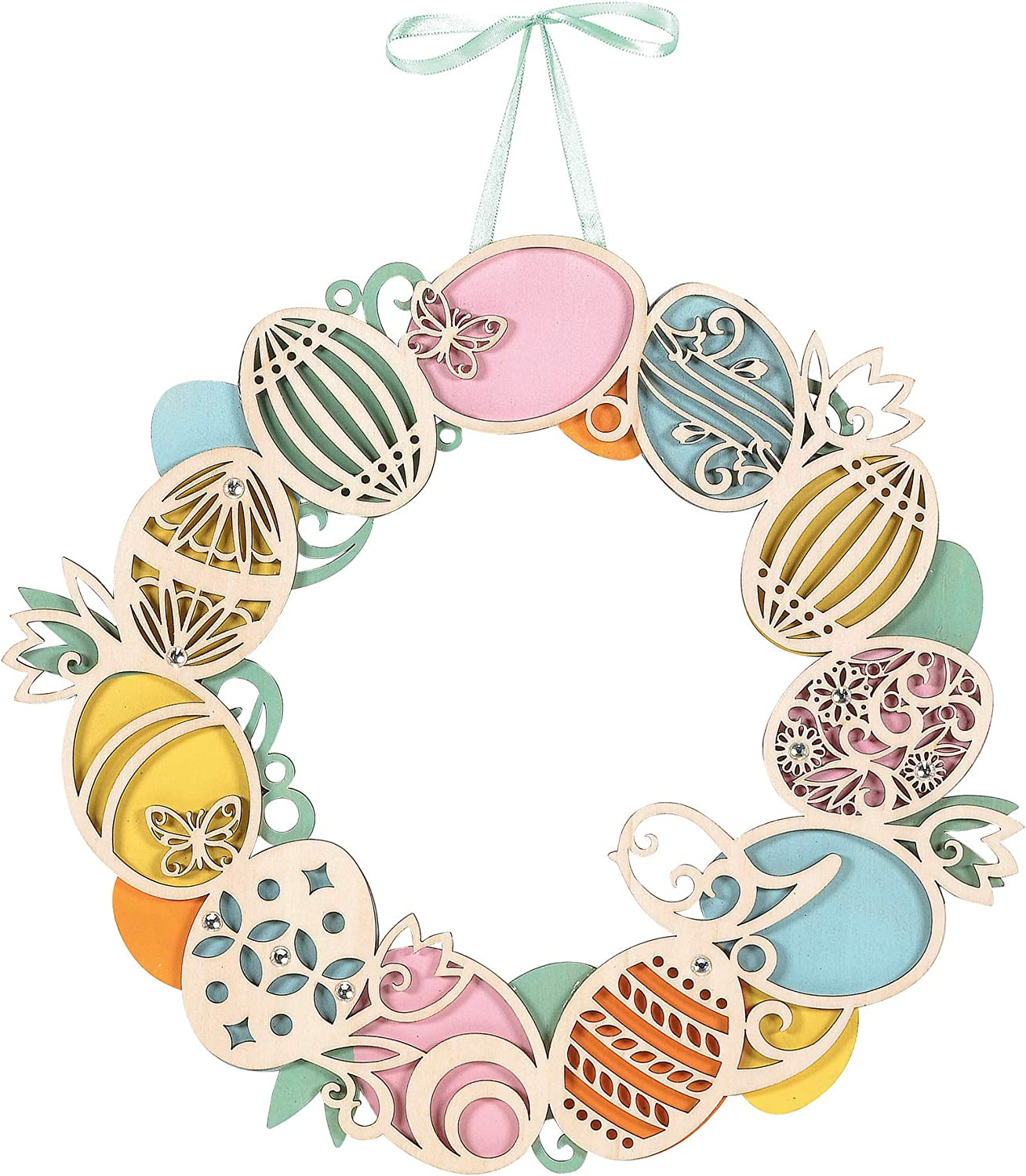wooden easter egg door hanger