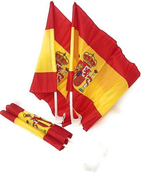 N et K Bandera de España para coche, paquete de 2-4: Amazon.es: Hogar