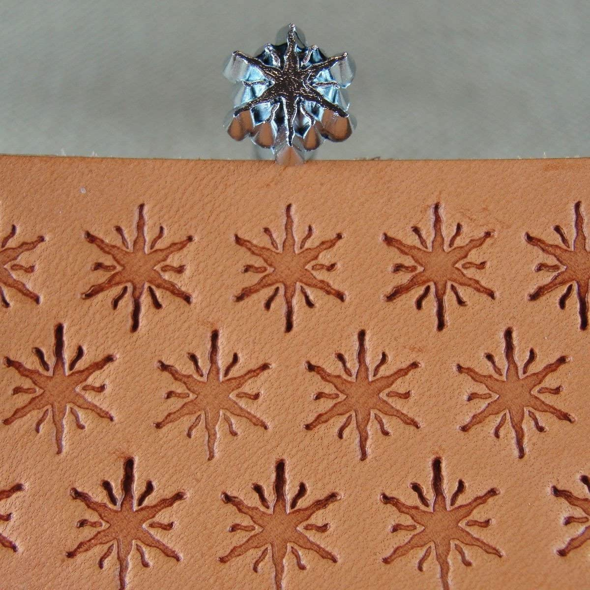 Leather Stamping Tool Craft Japan #E261 Geometric Star Stamp