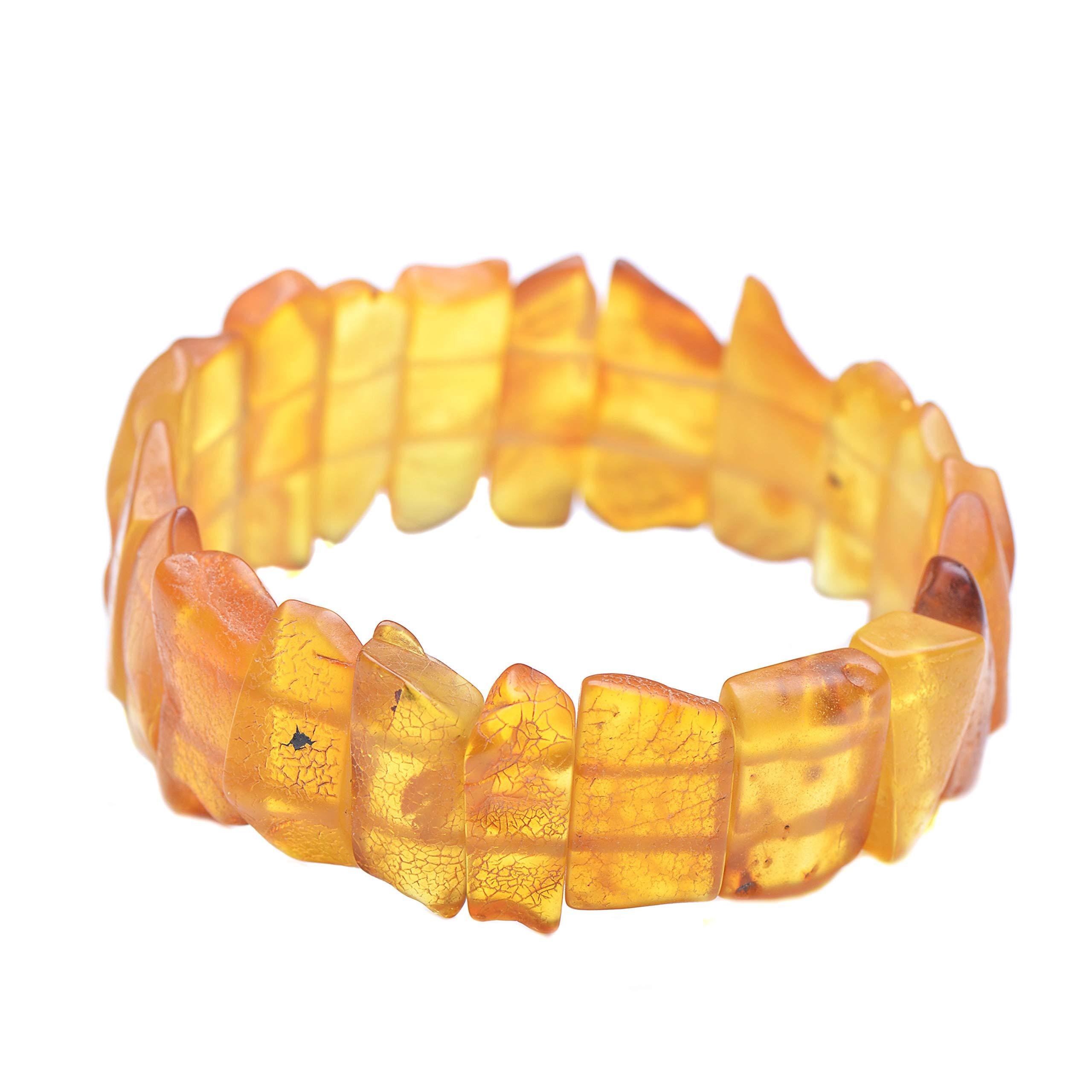 Amber Bracelet - Unique Amber Bracelet - Handmade Amber Jewelry - Baltic Amber Bracelet by Genuine Amber (Image #3)