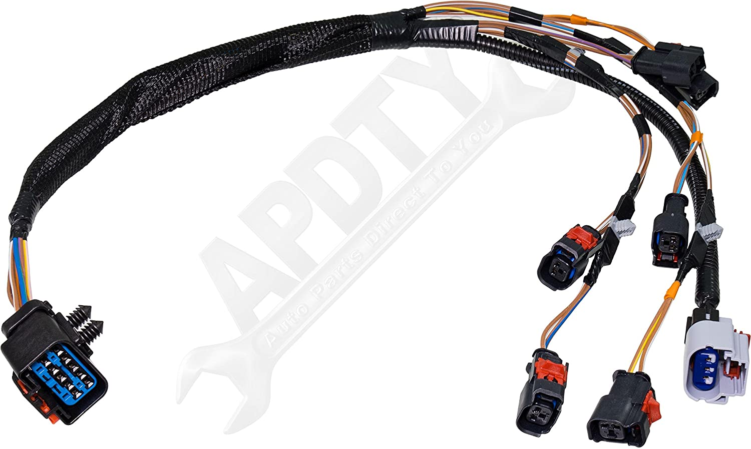 Apdty 134018 Fuel Rail Injector Wiring Pigtail 2002 Jeep Wrangler Diagram Connector Complete Harness Fits V6 33l Or 38l 2004 2005 Chrysler Town Country Dodge
