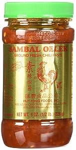 Huy Fong Sambal Oelek Chili Paste, 8 oz, 3 pk