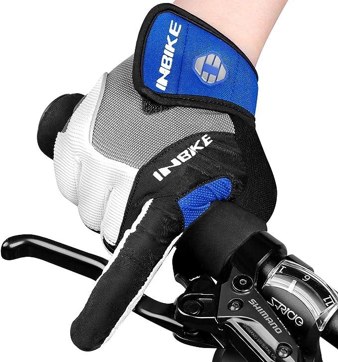 INBIKE Gants VTT Cyclisme /Écran Tactile Homme Gel Rembourre SCR TPR Protection Anti-Choc Respirant Velo pour Femme
