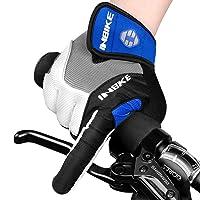 INBIKE 5mm Gel Padded Mens Cycling Gloves Breathable & Wear Resistant