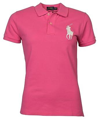 34105311 Ralph Lauren Women's Big Pony Tri-Color Mesh Polo Shirt at Amazon ...
