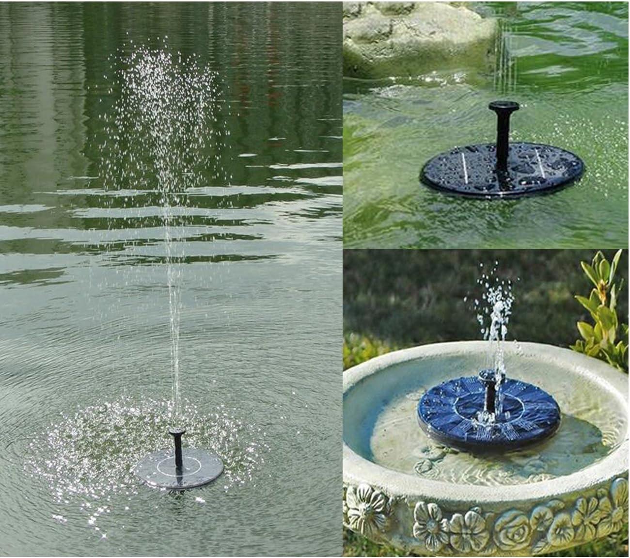 MCTECH 1.4W Pompe /à Eau Solaire Fontaine de Jardin Fontaine Rocaille Fontaine Pompe /à Eau Solaire Pompe Ext/érieure Arrosage Jardin