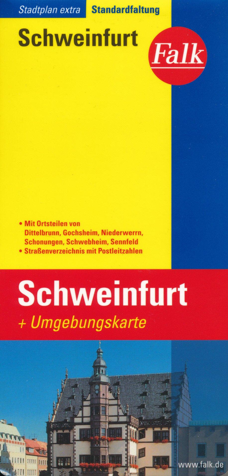 Schweinfurt Bavaria Germany 1 15 000 Street Map Environs 1 150