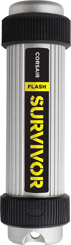 Black Corsair CMFSS3B-64GB Flash Survivor Stealth 200 m 64 GB USB 3 Rugged Design Water Proof Flash Drive