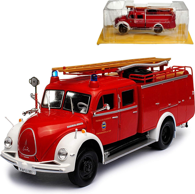 Magirus Deutz Mercur TLF16 Feuerwehr Pfaffenhofen Feuerwehr Rot 1//43 Atlas Model