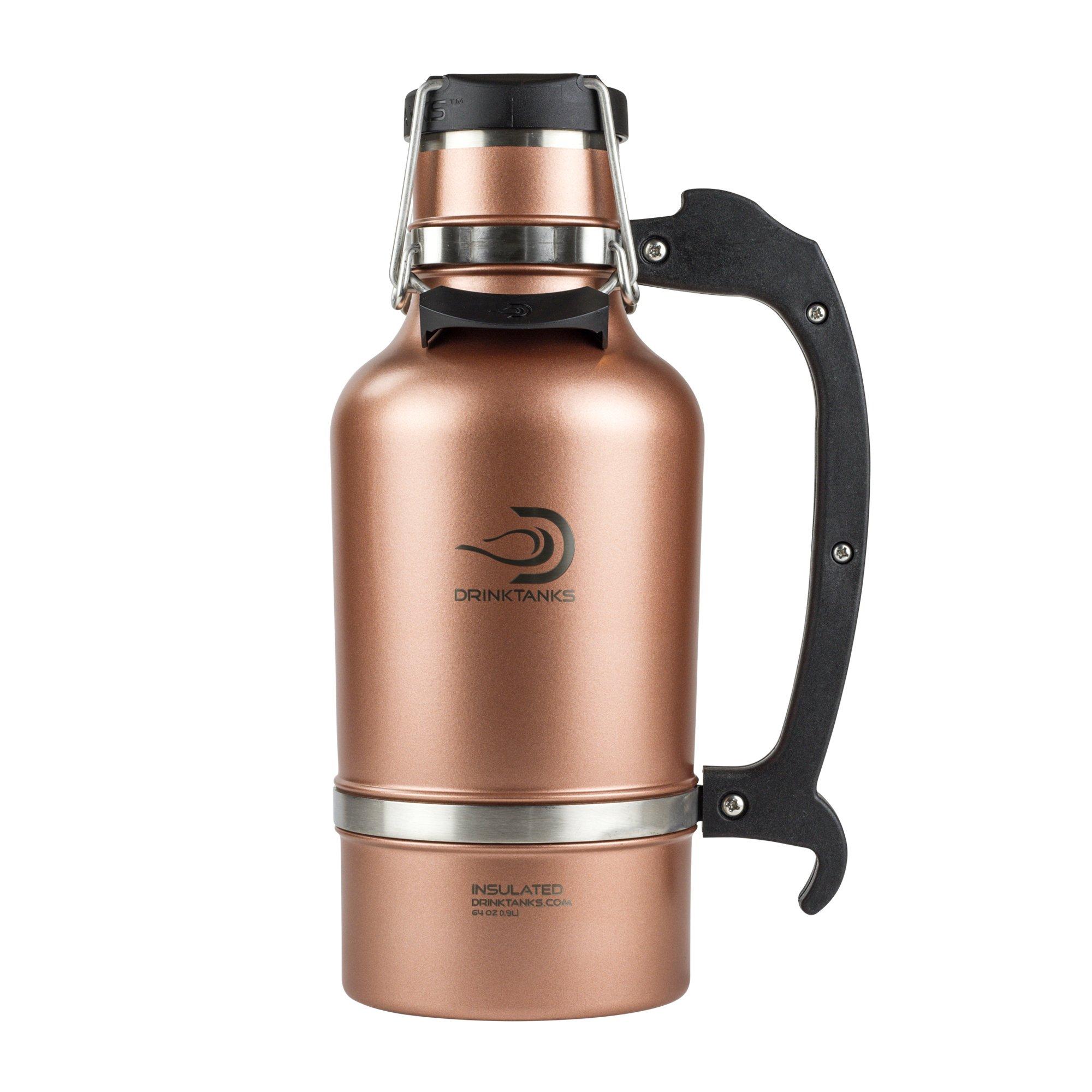 DrinkTanks Vacuum Insulated Stainless Steel Beer Growler, 64 oz.