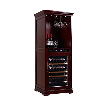 Royal Cave Solid Red Wood Digital Temperature Controlled Wine Cellar Cabinet u0026 Bar 72 bottles  sc 1 st  Amazon.com & Amazon.com: Royal Cave Solid Red Wood Digital Temperature Controlled ...