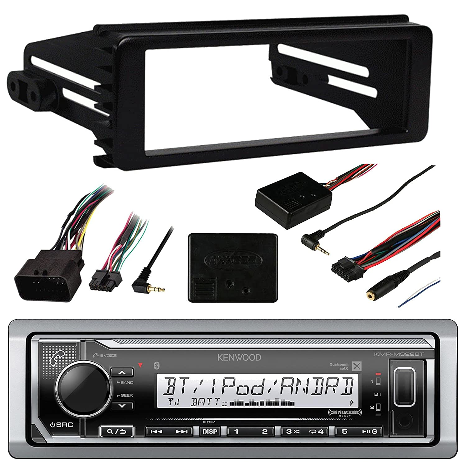 98 Up Kenwood Marine Harley Touring Stereo Radio Install Wiring Diagram Further Head Unit On Cd Changer Adapter Dash Kit Flht Flhx Flhtc Cell Phones Accessories