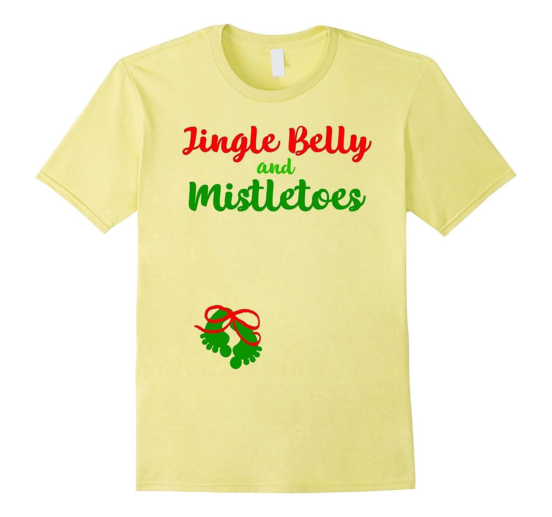 Cute Christmas Shirt Belly Mistletoes Pregnancy Announcement-FL