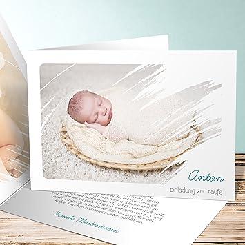 Einladungskarten Taufe Basteln Freude 100 Karten