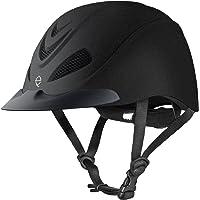 HorseSaddleShop Troxel Liberty Black Duratec Low Profile Schooling Helmet 04-231