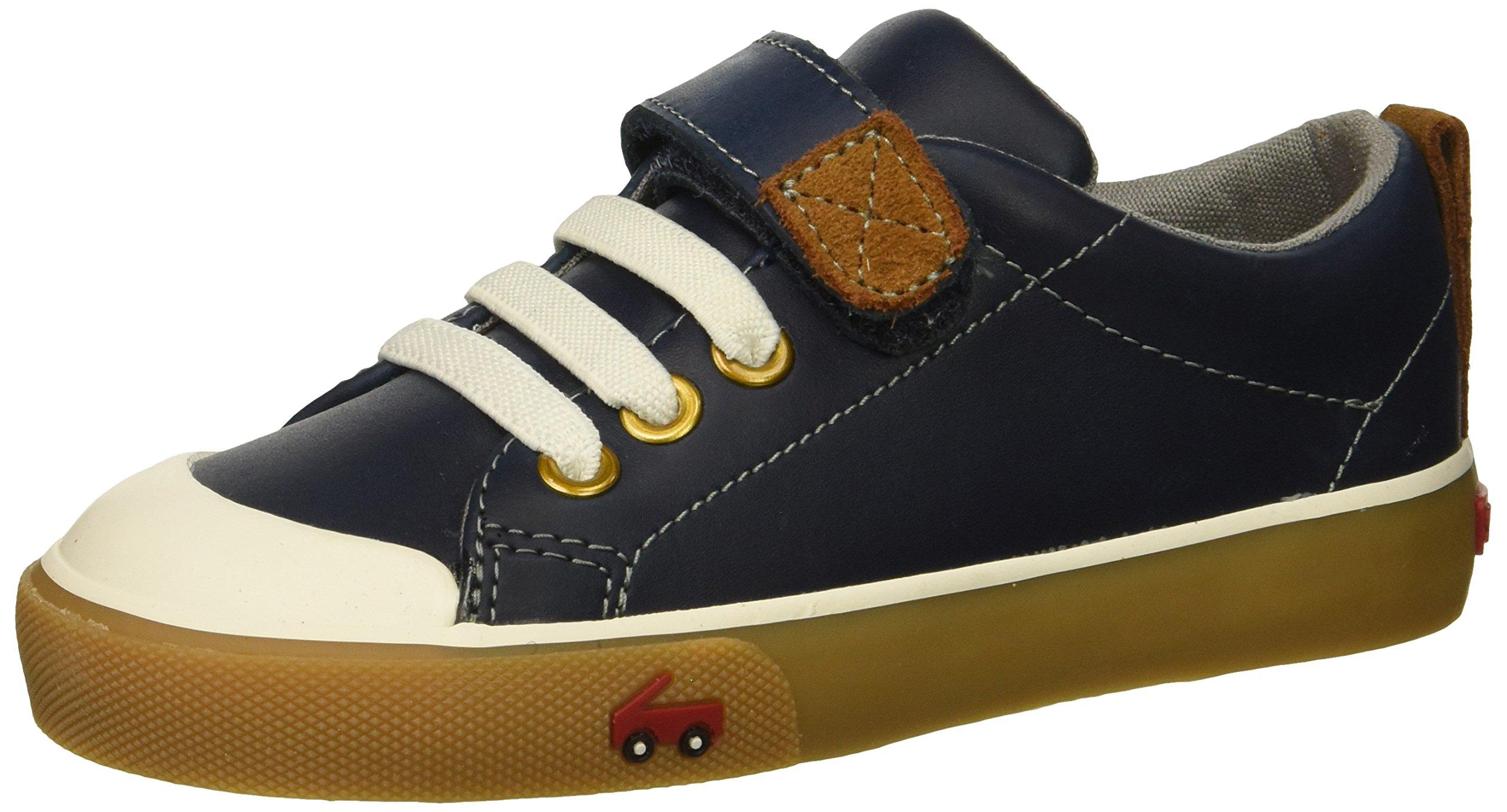 See Kai Run Boys' Stevie II Sneaker, Navy Leather, 6 M US Toddler