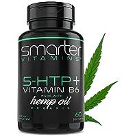 200mg 5-HTP + Vitamin B6 & Organic Hemp Oil for Ultra Serotonin Supplement Support...