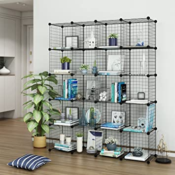 Amazon.com: Tespo Wire Cube Storage Shelves Book Shelf Metal ...