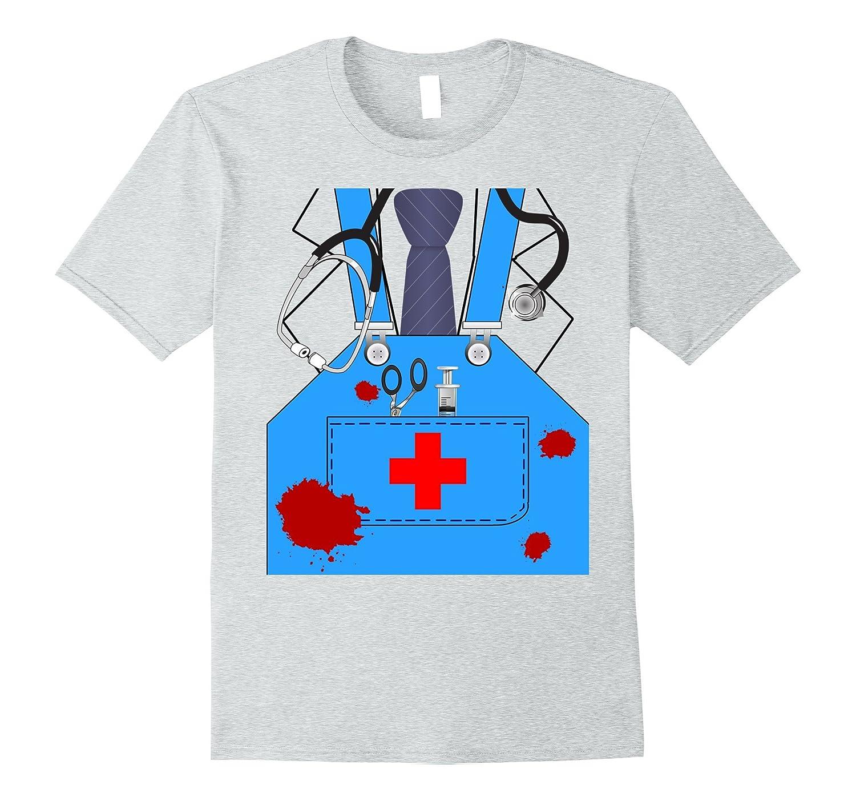 Bloody Surgeon Doctor Halloween Costume Shirt Men Women Kids