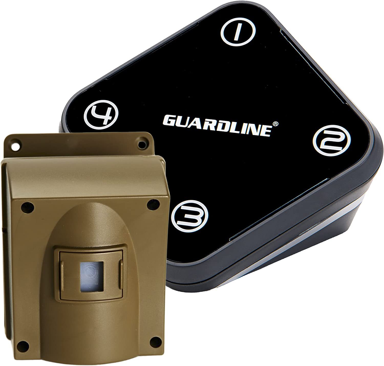 Guardline Wireless Driveway Alarm Outdoor Weather Resistant Motion Sensor