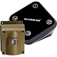 Guardline Wireless Driveway Alarm- Top Rated Outdoor Weatherproof Motion Sensor & Detector- Best DIY Security Alert…