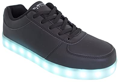 628fa56317 Electric Styles LED Shoes Light up Glow Sneakers (Black