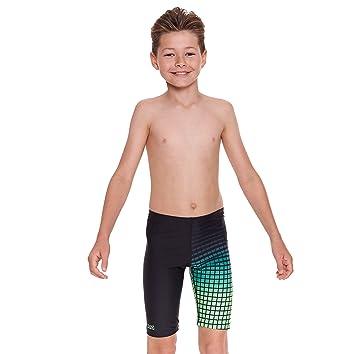 Zoggs Boy's Darwin Jammer Swim Suit - Black/Green, 23-Inch/Size