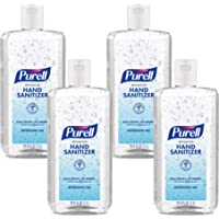 PURELL Advanced Hand Sanitizer Refreshing Gel, Clean Scent, 1 Liter Flip Cap Bottle (Pack of 4) – 9683-04